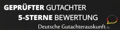Geprüfter Gutachter 5-Sterne Bewertung. Deutsche Gutachterauskunft